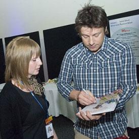 Kelly meets Jamie Oliver