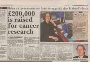 Cancer charity PR