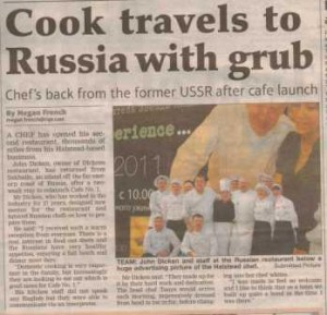 PR for chef in local newspaper