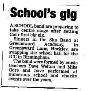 Greensward Academy band