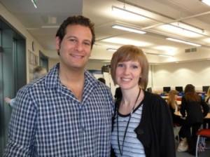 Kelly with football journalist-turned-author Dan Freedman