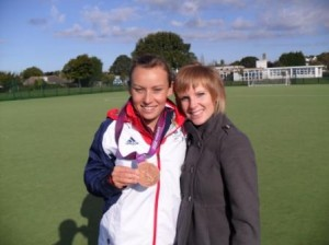 Journalist Kelly with Chloe Rogers