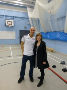 Kelly with BMX world champ Mike Mullen