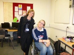 Kelly with world champion swimmer Fran Williamson