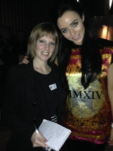Journalist Kelly with popstar Hatty Keane