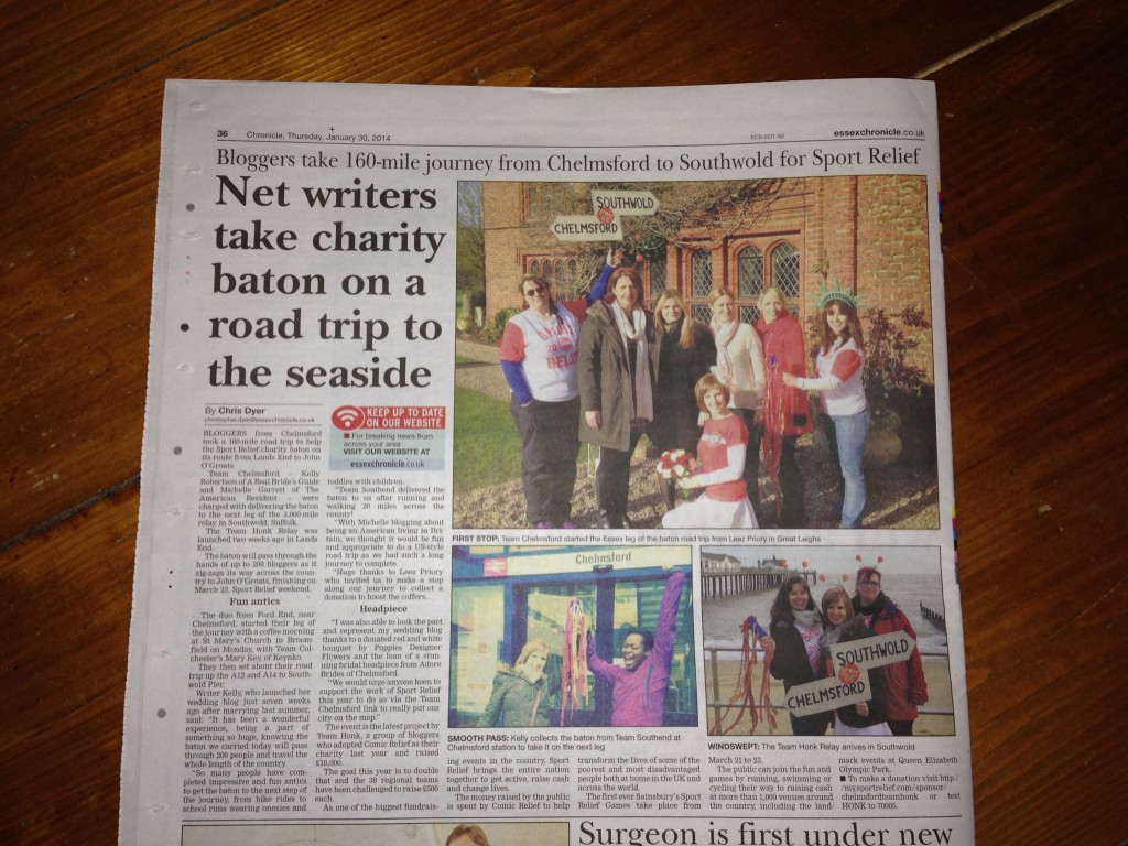 Our journalist Kelly in Essex Chronicle newspaper