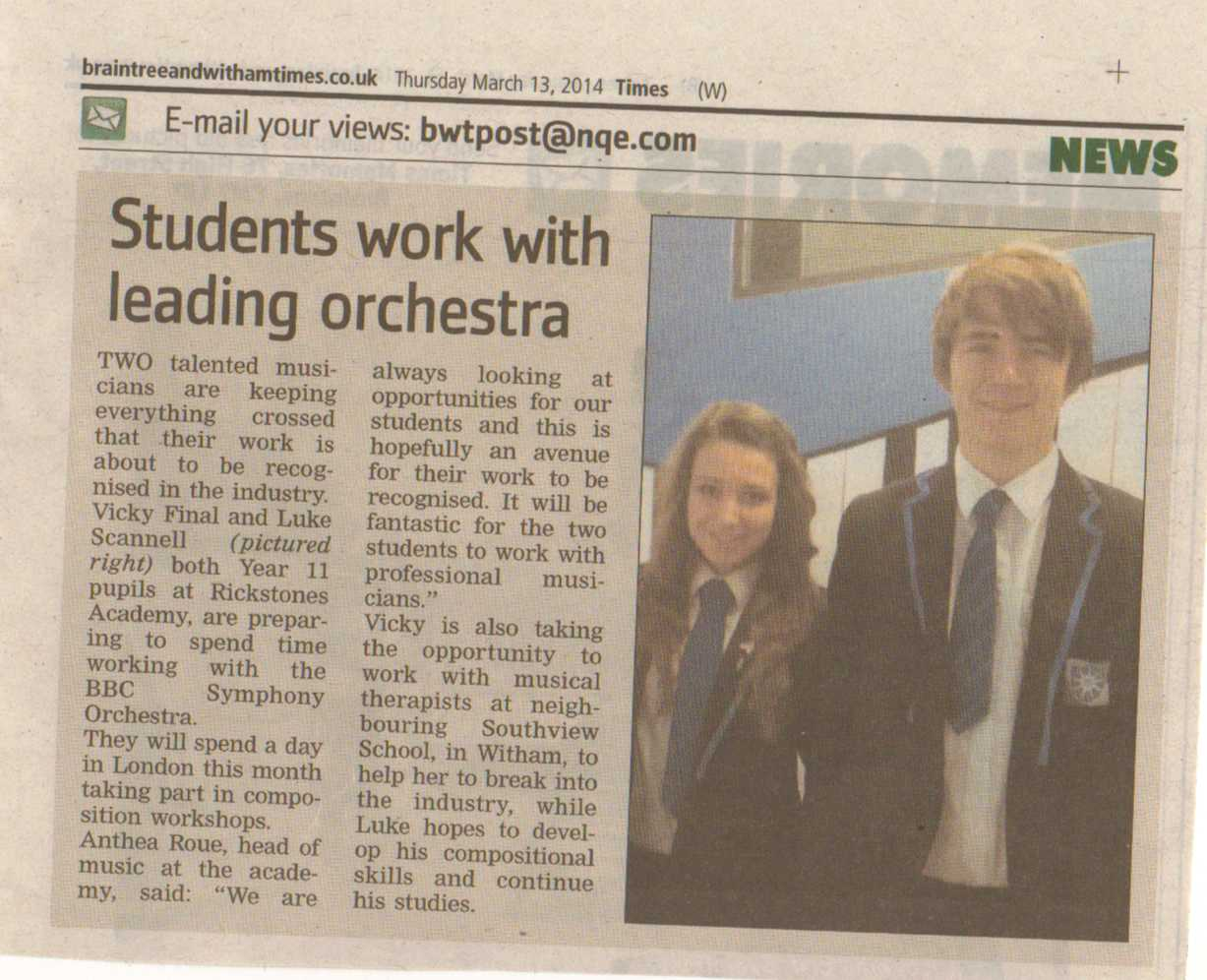 New Rickstones Academy in Witham Times