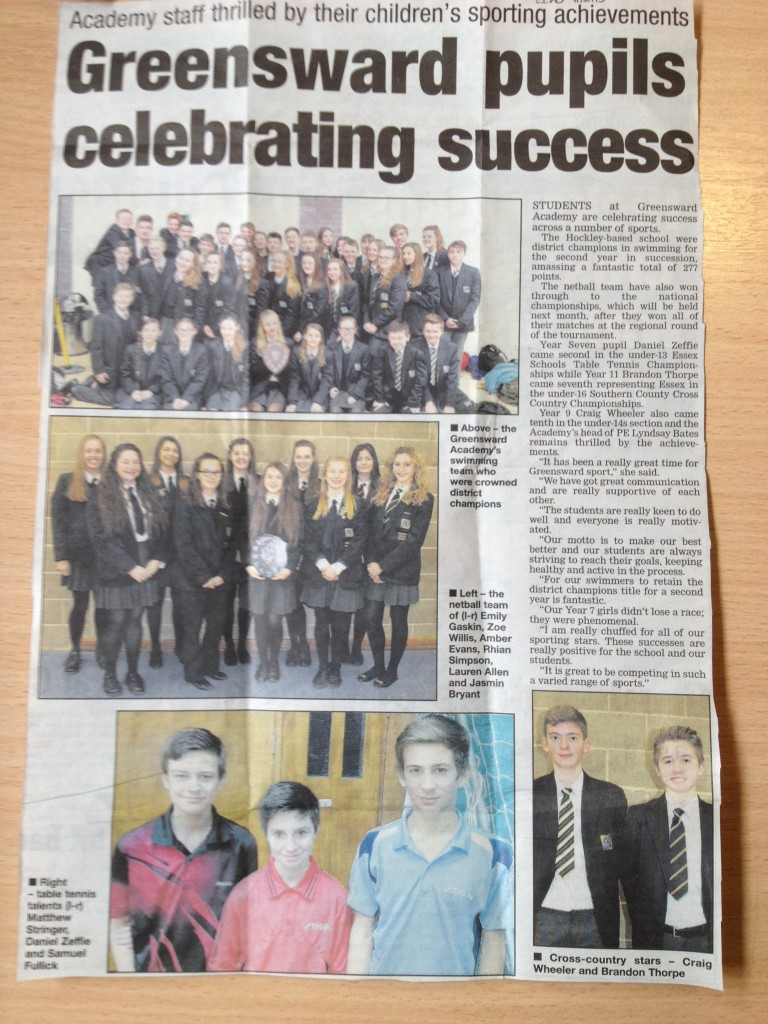 Greensward Academy news in Echo