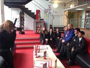 Harlow Star taking page 2 photo at Burnt Mill Academy